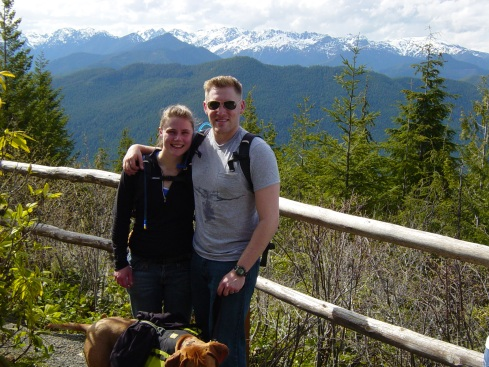 Me and my hubby on a hiking trip in the Olympic mountains.